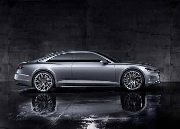 """Die Audi-Studie des prologue ist der erster Vertreter der neuen Designspache und damit für die VW-Tochter soetwas wie ein """"Signature Car"""". Den bisherigen Anspruch """"Vorsprung druch technik"""" ist audi in letzter zreit zu häufig schuldig gebleiben. Das soll sich wieder ändern und auch im Audi Design stärker zum Ausdruck kommen. Progressive Technik im fortschrittlichen Design."""