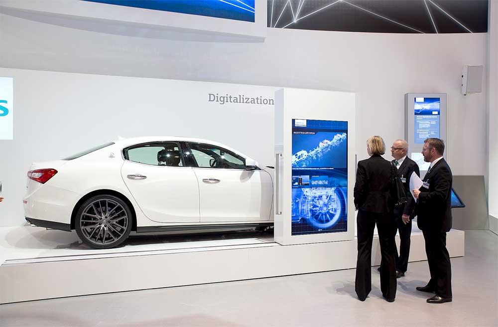 Siemens zeigt auf der Hannover Messe Industrie den Maserati Ghibli