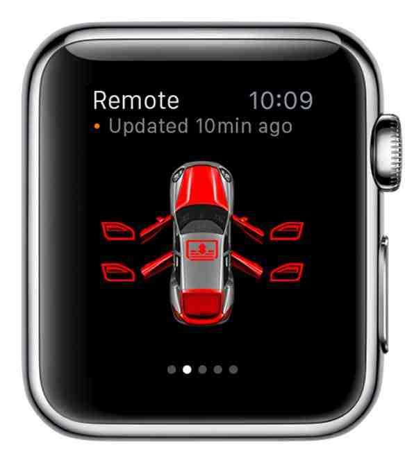 Apple Watch steuert Porsche Car Connect