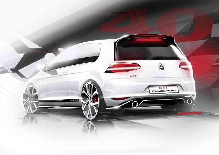 Seriennahe Volkswagen Studie Golf GTI Clubsport: Im kommenden Jahr feiert der Golf GTI seinen 40. Geburtstag. Volkswagen wird dieses historische Ereignis mit einem seriennahen Jubiläumsmodell adeln. Eine Bauentscheidung gilt als relativ sicher und hängt direkt vom Zuspruch der GTI-Fangemeine ab.