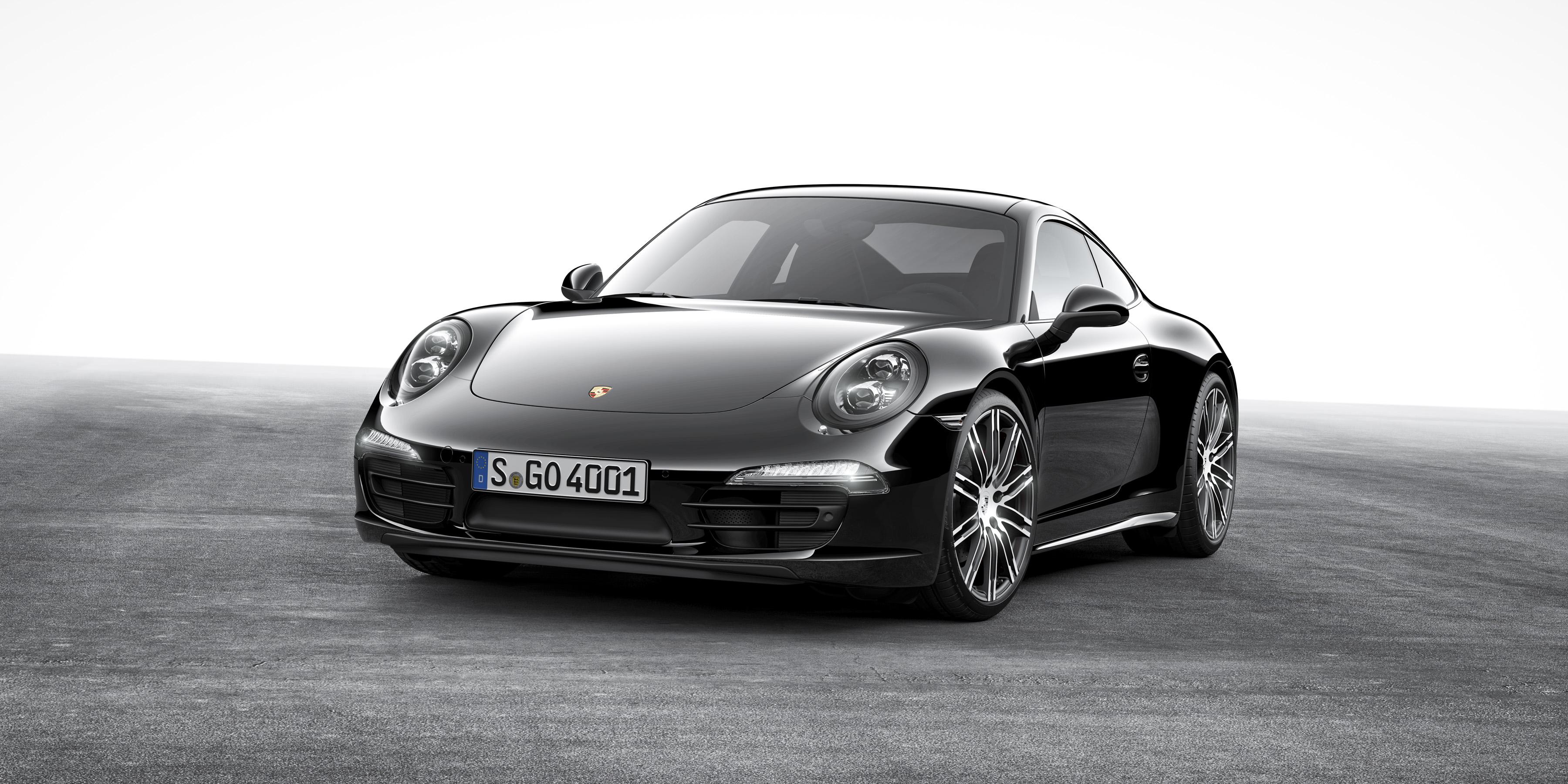 Black Edition: Sonderserie des 911 Carrera und Boxster