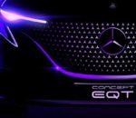 Mercedes Concept EQT: Premiere der elektrische Small-Van-Studie am 10. Mai 2021