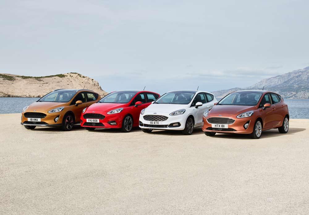 Ford Fiesta in vier Ausprägungen