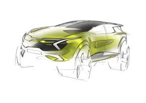Kia Sportage MJ 2022 - Teaserskizzen